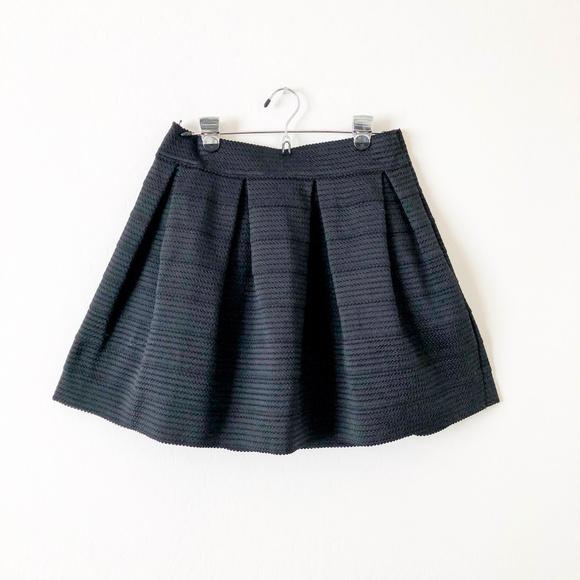 Express Dresses & Skirts - Express Black Textured Skater Skirt